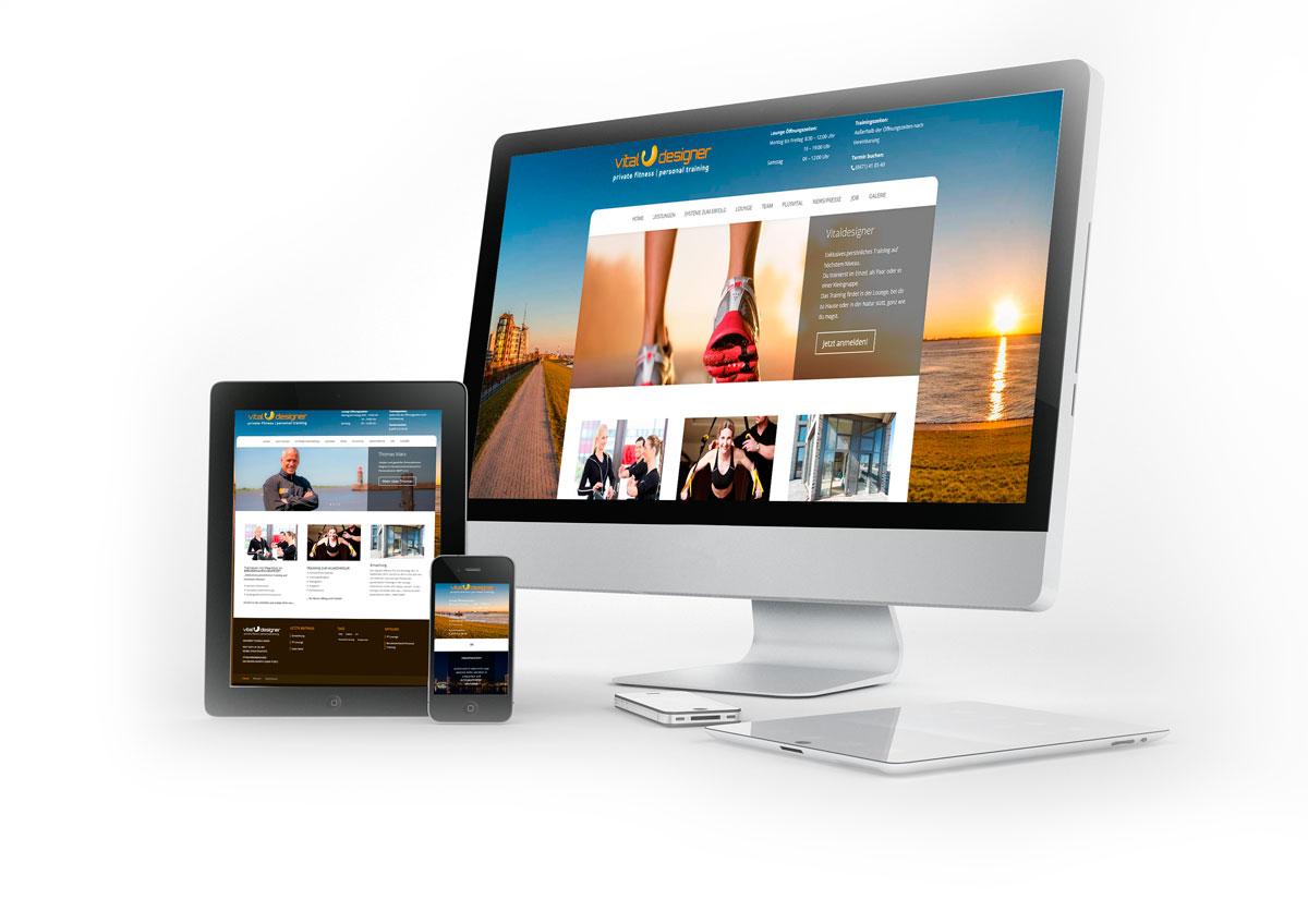 Webdesign Vitaldesigner PT-Lounge Bremerhaven