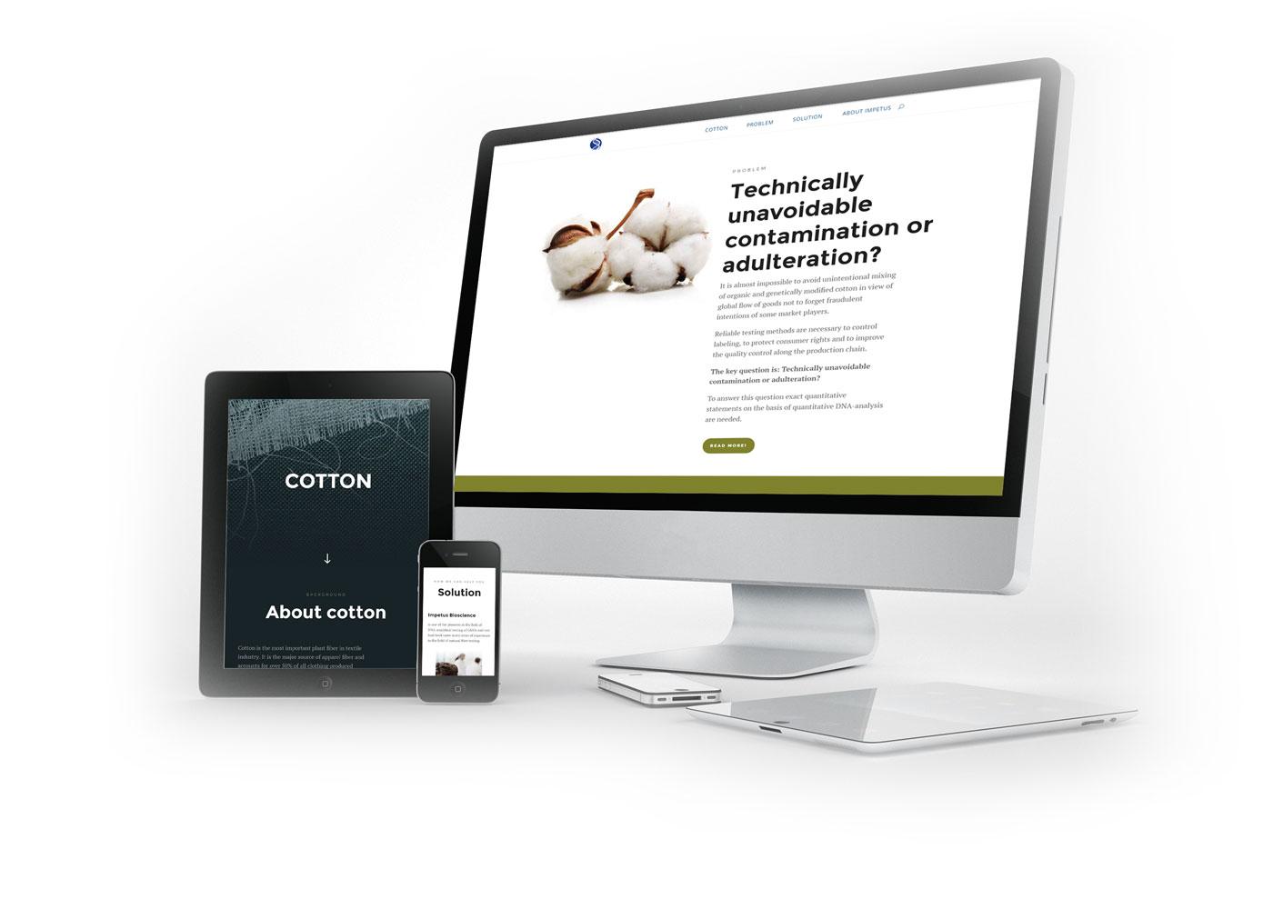Webdesign Firma Impetus bioscience