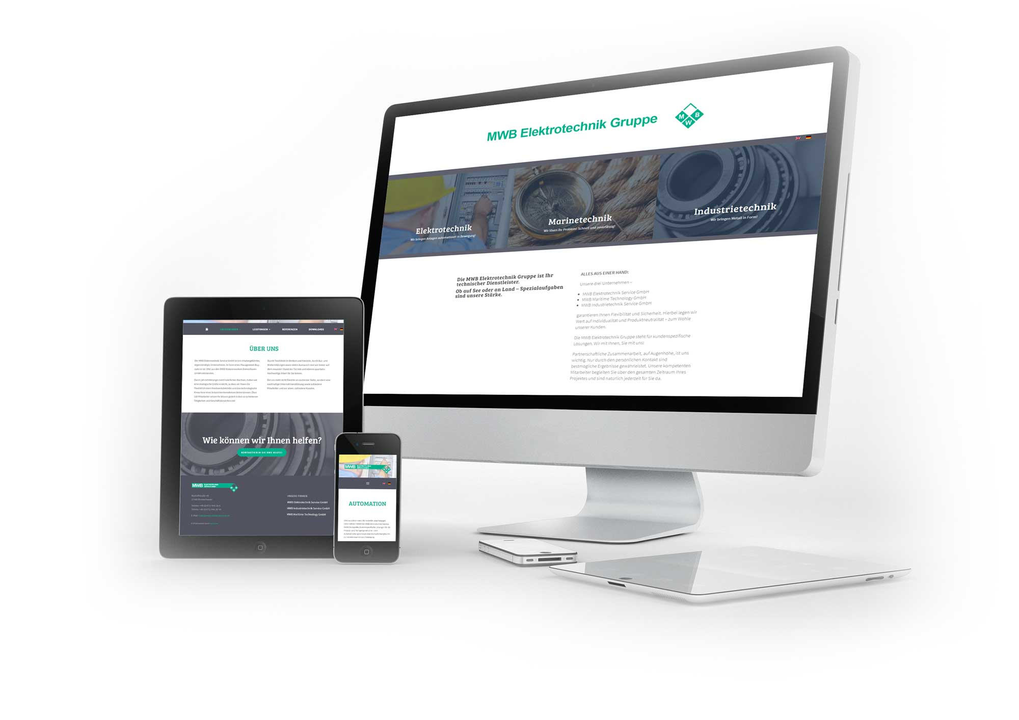 Webdesign MWB Elektrotechnik Bremerhaven