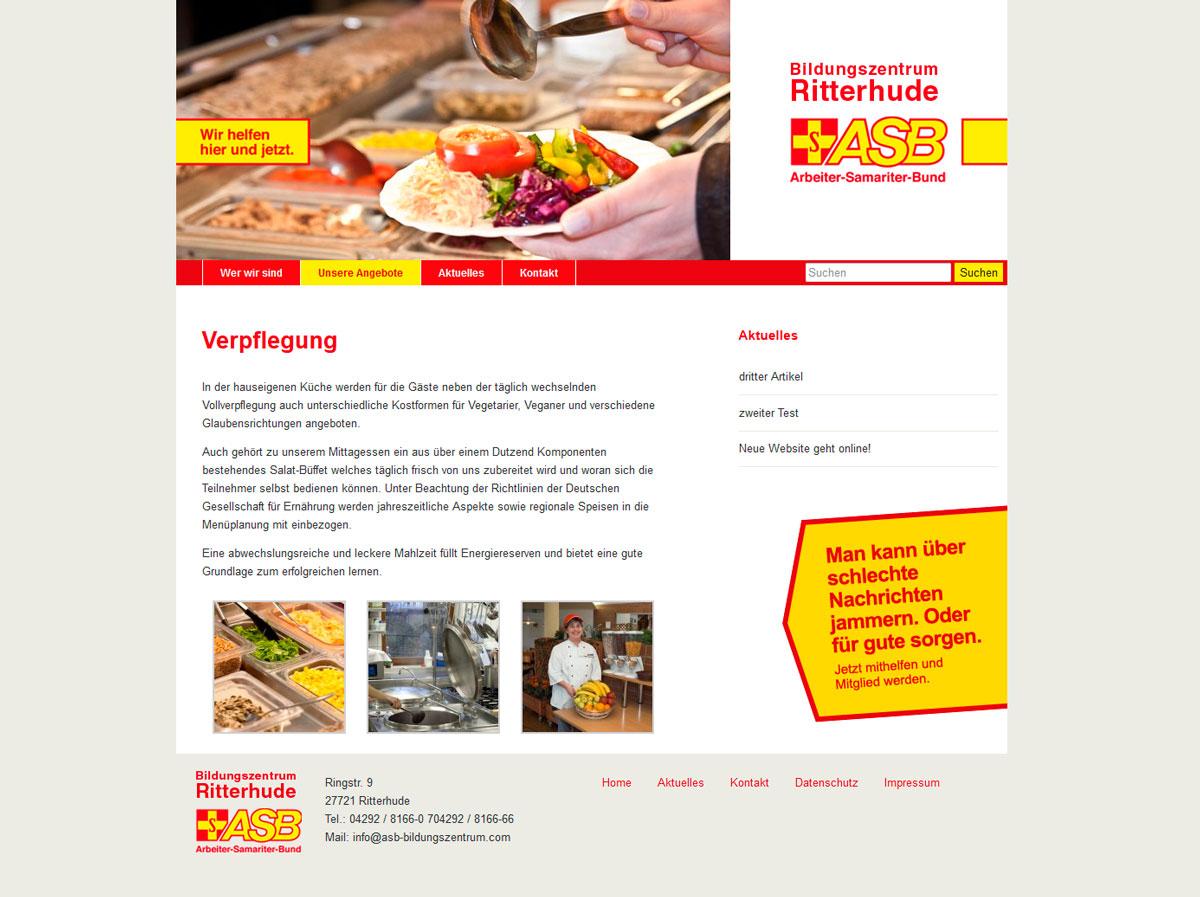 Webdesign ASB Bildungszentrum Ritterhude